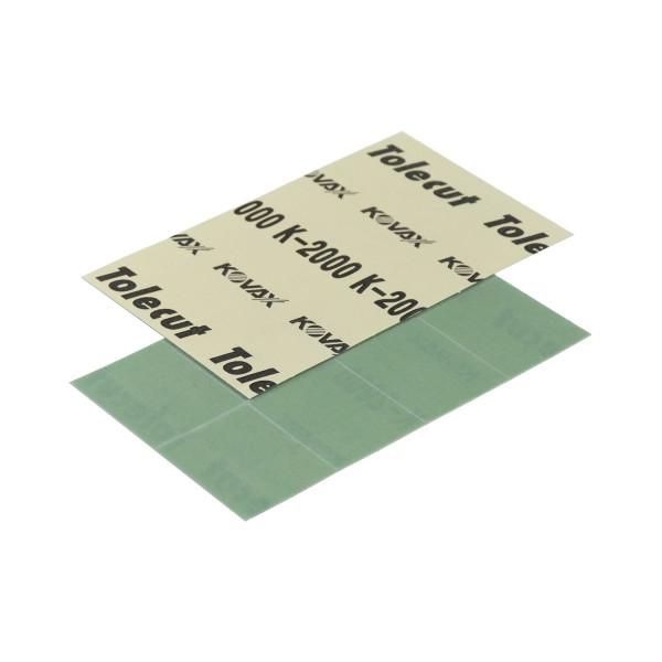 KOVAX Tolecut Aufklebe-Streifen 29 x 35mm grün K2000 8er Bogen