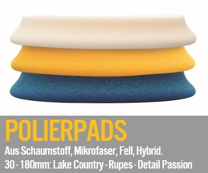 Polierpads & Polierschwaemme - Aus Schaumstoff, Mikrofaser, Fell, Hybrid. 30 bis 180mm: Lake Country - Rupes - Detail Passion