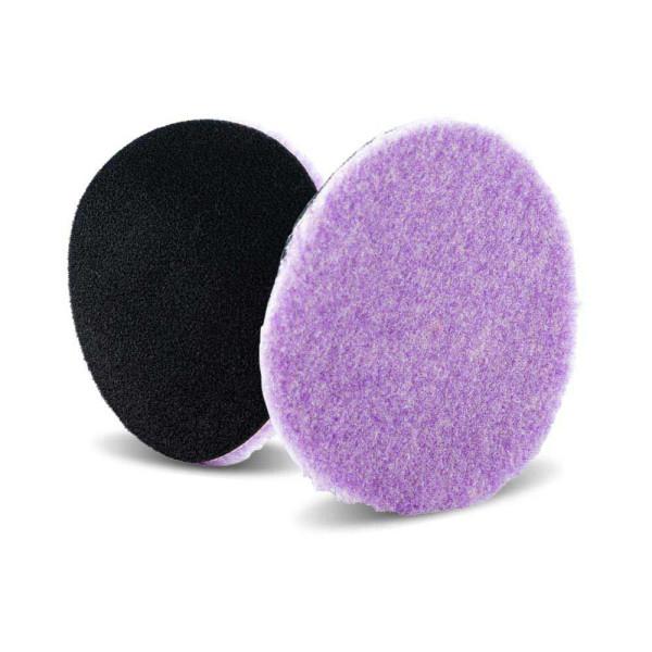 Lake Country Purple Foamed Wool Hybrid-Polierpad 6mm Ø 89mm