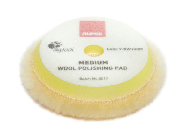 Rupes Woll-Polierpad Polierscheibe medium gelb Ø 80/90mm