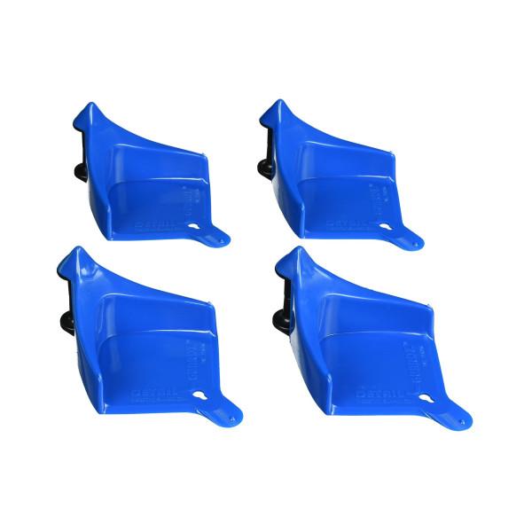 Hose Guide Schlauchabroller blau 4 Stück