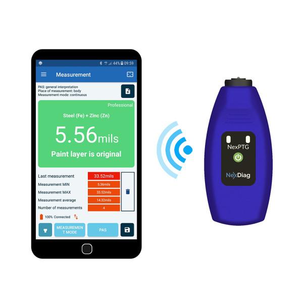 NexPTG Professional Advanced Messgerät für Lackschichtdicke Android + iOS