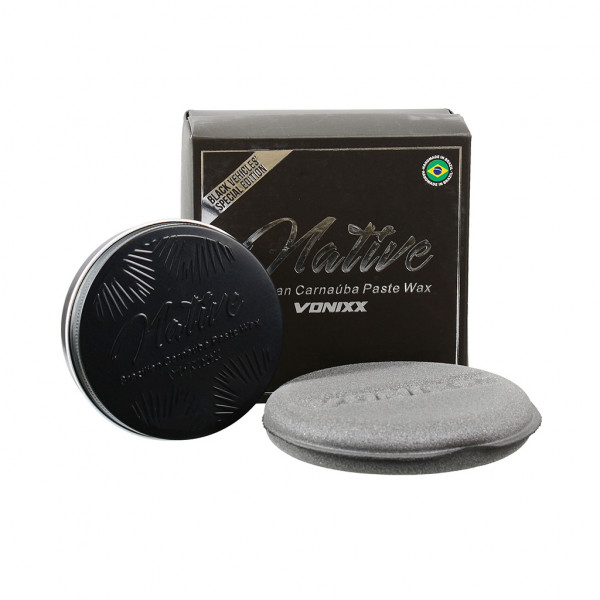 Vonixx Native Paste Wax BLACK für schwarze Lacke inkl. Applicator Pad 100ml