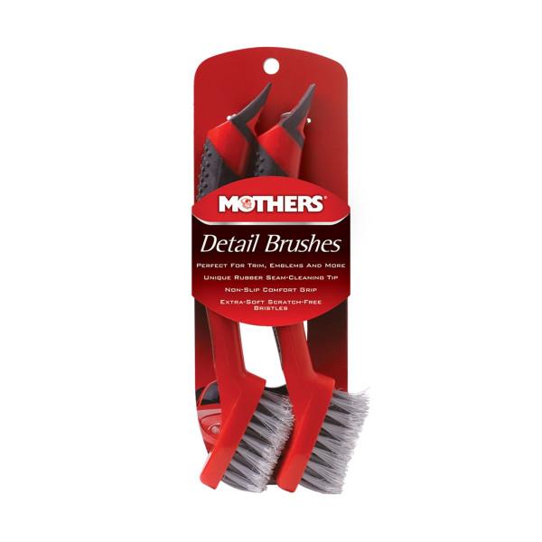 Mothers Detail Brush Set hochwertige Bürsten für Embleme + Typenschilder 2 Stück