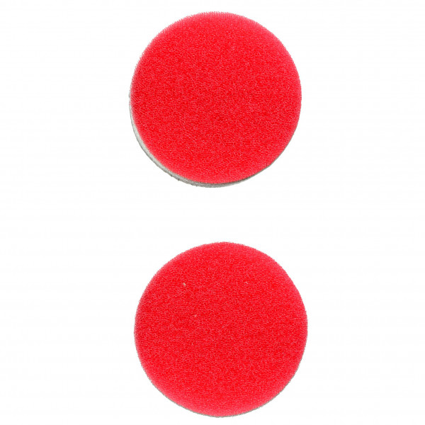 Flex Polierschwamm PS-R 40 fein weich rot ideal für PXE 80 (2 Stück) 40mm