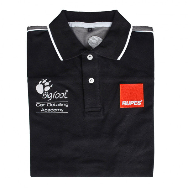 Rupes BigFoot Academy Polo-Shirt black line XL