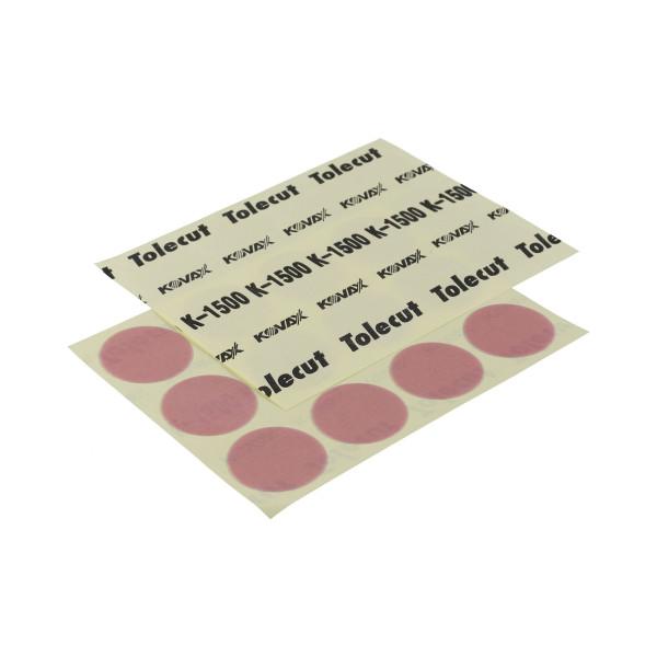 KOVAX Tolecut Rundschleifblüten Trockenschleifen rosa P1500 Ø 34mm 12er Bogen