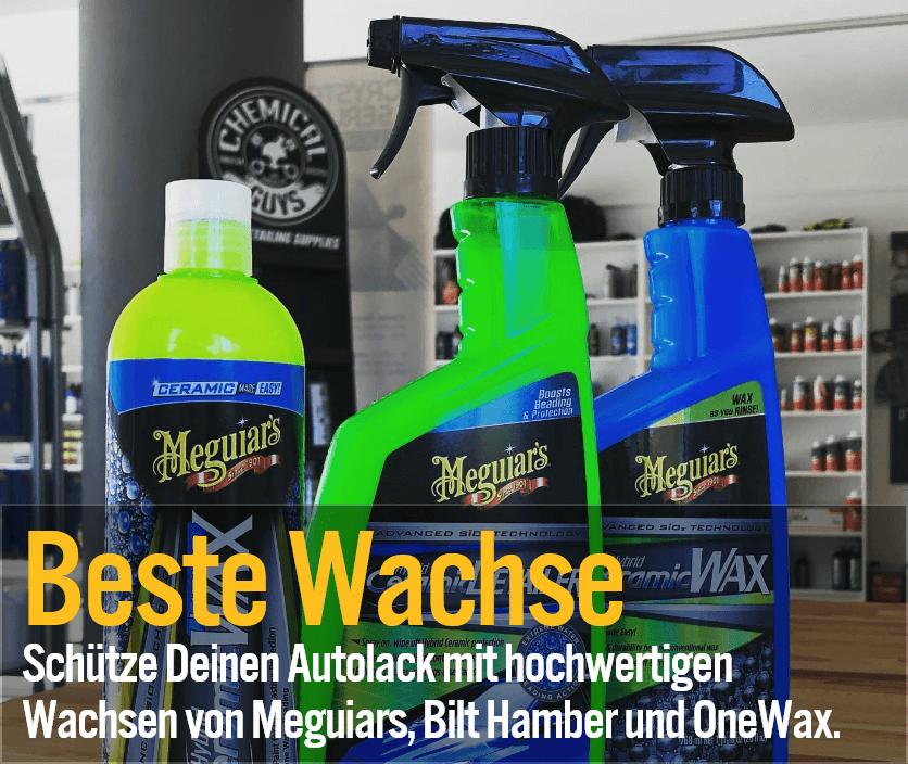 Beste Wachse - Schütze Deinen Autolack mit hochwertigen Wachsen von Meguiars, Bilt Hamber und OneWax.