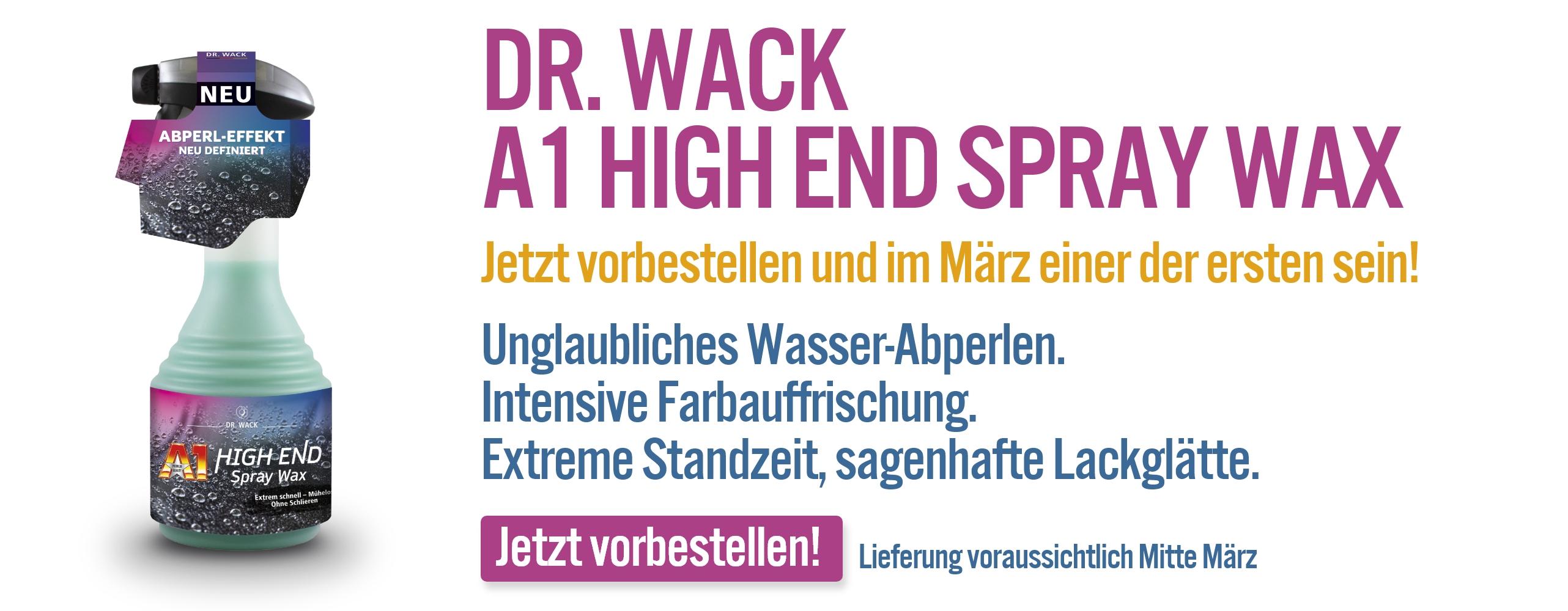 Dr. Wack A1 High End Spray Wax