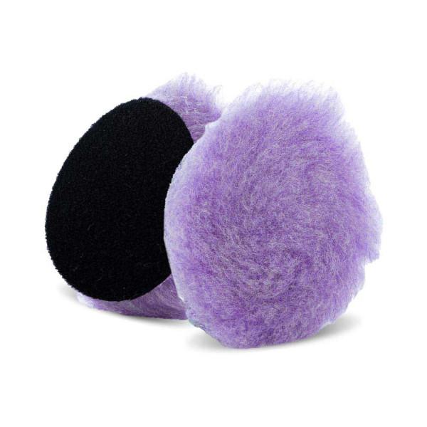 Lake Country Purple Foamed Wool Hybrid-Polierpad 19mm Ø 89mm