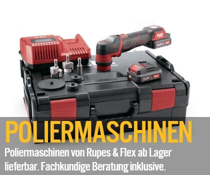 Poliermaschinen - Poliermaschinen von Rupes und Flex ab Lager lieferbar. Fachkundige Beratung inklusive!