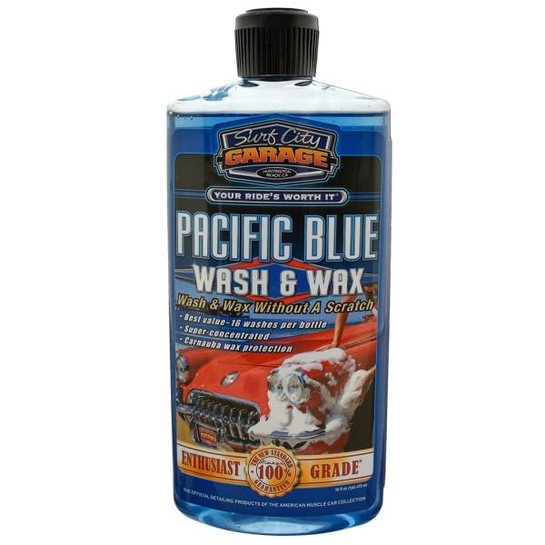 Pacific Blue Wash & Wax Shampoo 473 ml