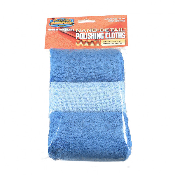 Surf City Garage Nano-Detail Polishing Cloths (3-pack) Set of three