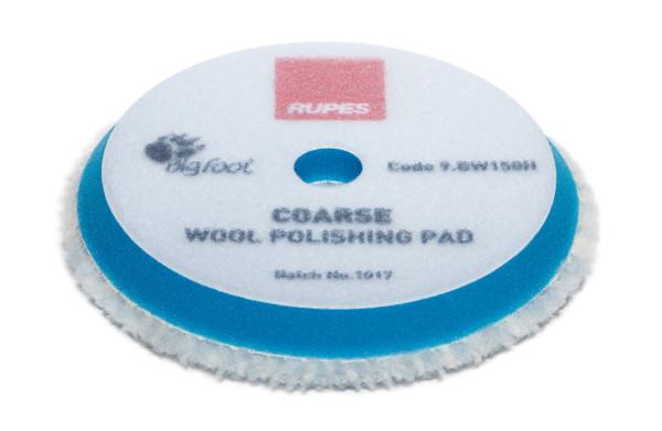 Rupes Woll-Polierpad Polierscheibe coarse hart blau Ø 130/145mm