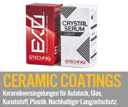 Keramikversiegelungen Ceramic Coatings: Keramikversiegelungen SiO2 für Autolack, Glas, Kunststoff, Plastik. Nachhaltiger Langzeitschutz.