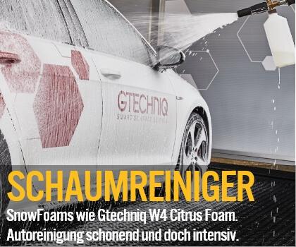 Schaumreiniger - SnowFoams wie Gtechniq W4 Citrus Foam. Autoreinigung schonend und doch intensiv.