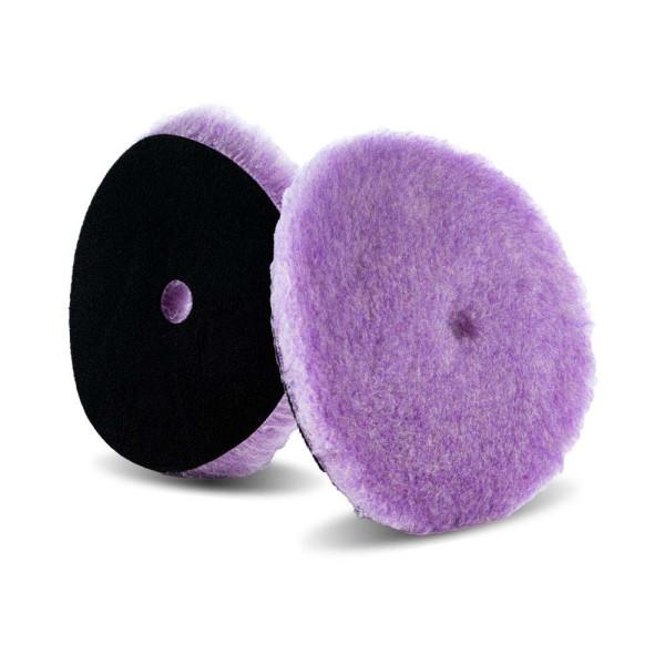 Lake Country Purple Foamed Wool Hybrid-Polierpad mit Mittelloch 19mm Ø 150mm