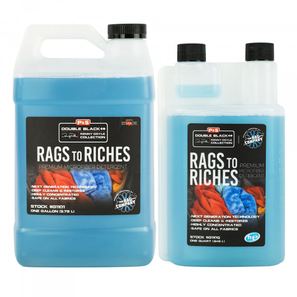 P&S Mikrofaser-Waschmittel R2R Rags to Riches The Rag Company
