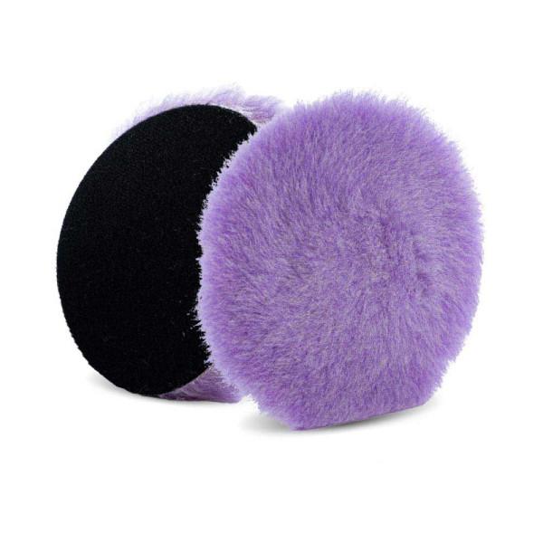 Lake Country Purple Foamed Wool Hybrid-Polierpad 19mm Ø 140mm