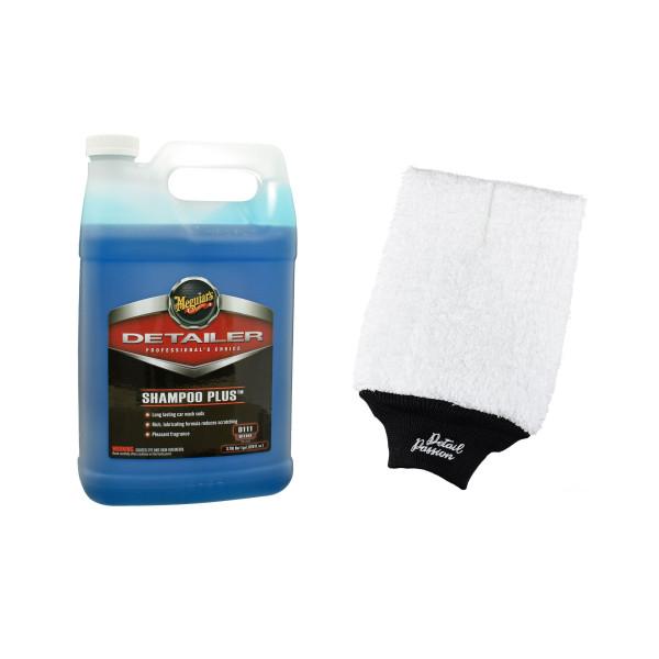Meguiars Detailer Auto Shampoo Plus Polymer 3,78L inkl. DP Waschhandschuh